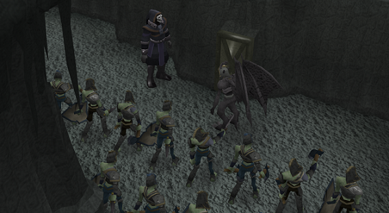 A zombie army!