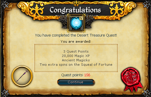 Congratulations! You have completed desert Treasure!