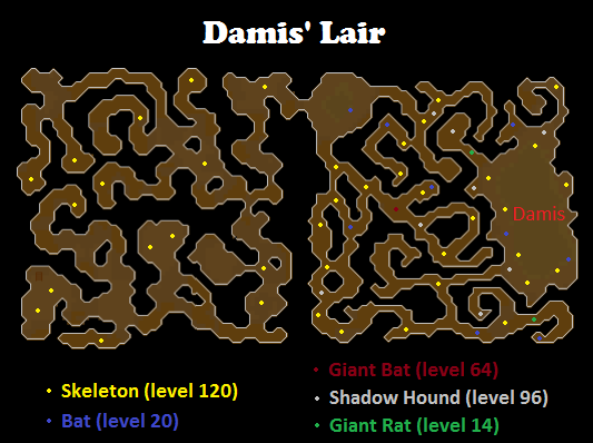 Map of damis' lair