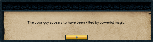 Killed by powerful magic