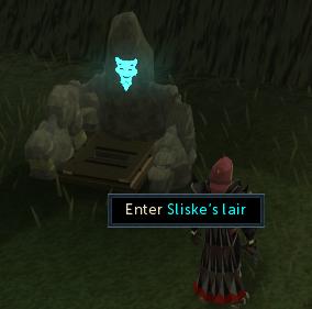 Enter Sliske's lair