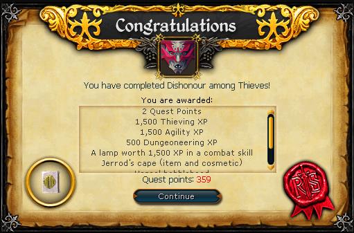 Congratulations! Quest complete!