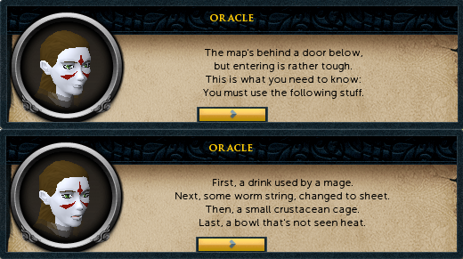 Oracle: The map's behind a door below, but entering is rather tough...