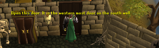 Use your yellow key on the western-most yellow door on the south wall.