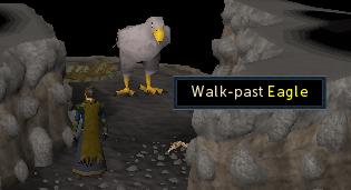 Walk-past eagle