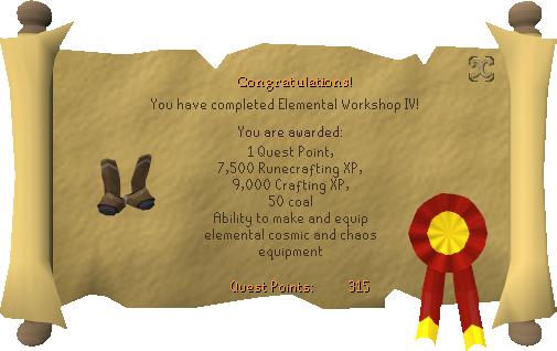 Congratulations! You have completed Elemental Workshop IV!