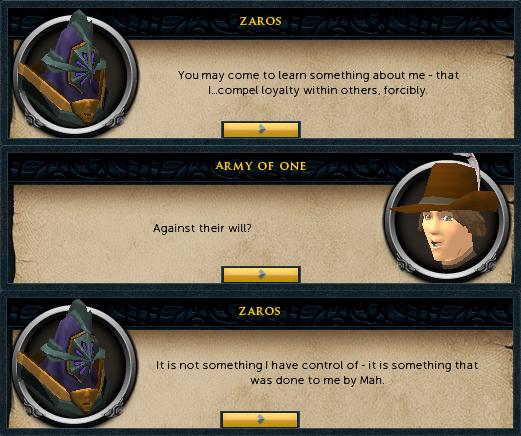 Zaros' flaw
