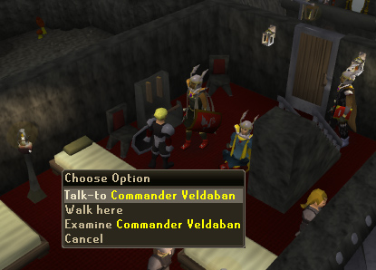 Talk to Commander Veldaban