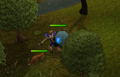 Fighting a fox