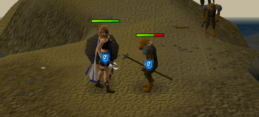 Fighting a hobgoblin