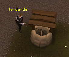 Fishing your Ring of Charos (a) from the Edgeville well.