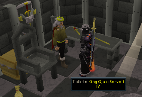 Speak to King Gjuki