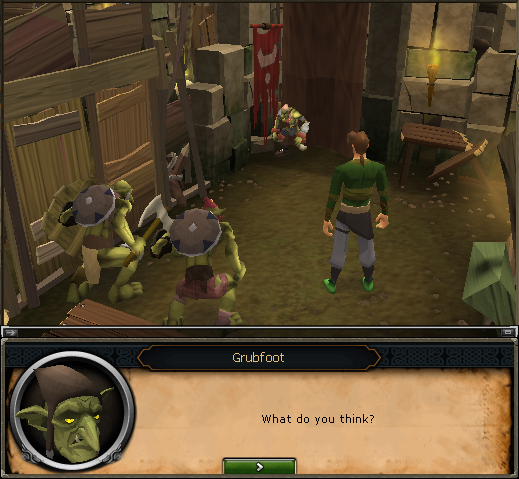 That's Grubfoot trying on some Orange goblin mail