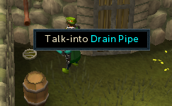 Talk into the drain pipe