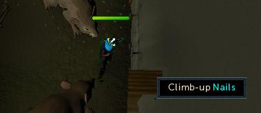 Climb up nails