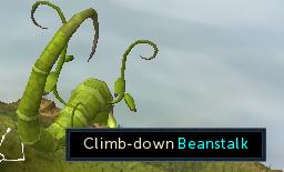 Climb down beanstalk