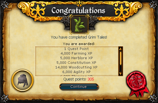 Congratulations! You have completed Grim Tales!