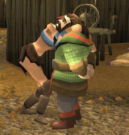 Gudrun hugging Dororan