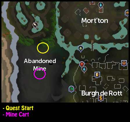 The zealot is circled in yellow on this map