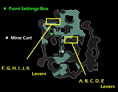 A map of the Haunted Mine