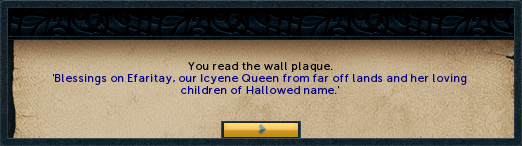 You read the wall plaque