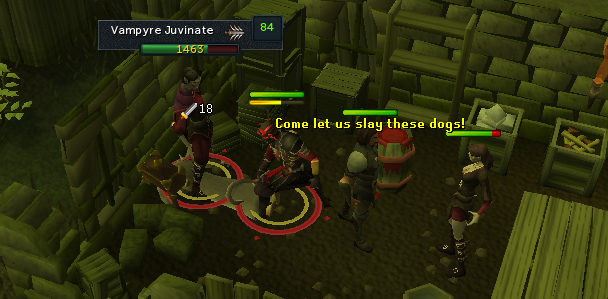 Come let us slay these dogs!