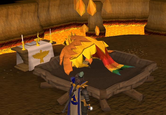 The phoenix is resting