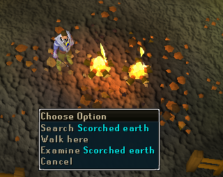 Search scorched earth
