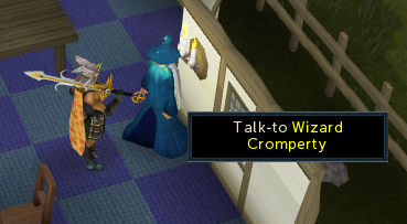 Talk to wizard cromperty