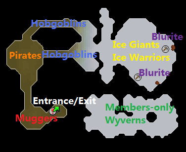 A map of the Ice Cavern