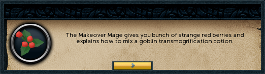 The Makeover mage gives you a bunch of strange red berries and explains how to mix...