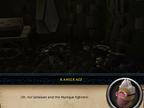Oh no! Safalaan and the Myreque fighters!