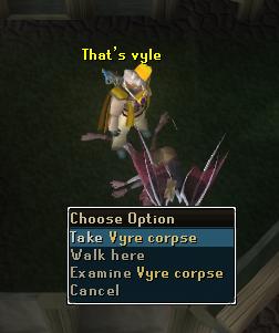 Take vyre corpse