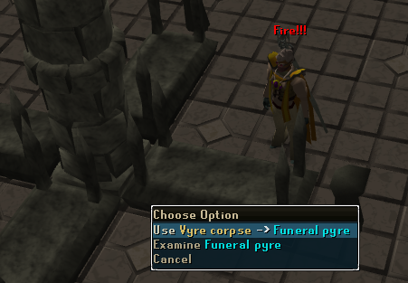 Use Vyre Corpse -> Funeral Pyre