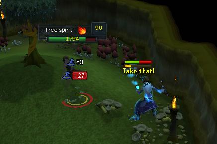 Fighting the tree spirit