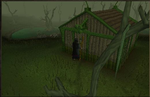 The shack in the lumbridge swamp