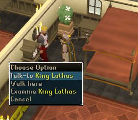 Making History - Talk to the King of East Ardougne to receive a letter
