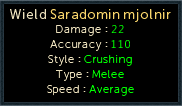Making History - Equipment Stats: Saradomin Mjolnir