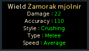 Making History - Equipment Stats: Zamorak Mjolnir