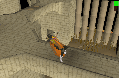 Dodging darts in the agility arena