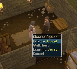 Talk to Jorral