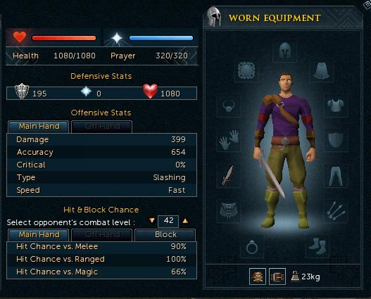 Excalibur Sword stats