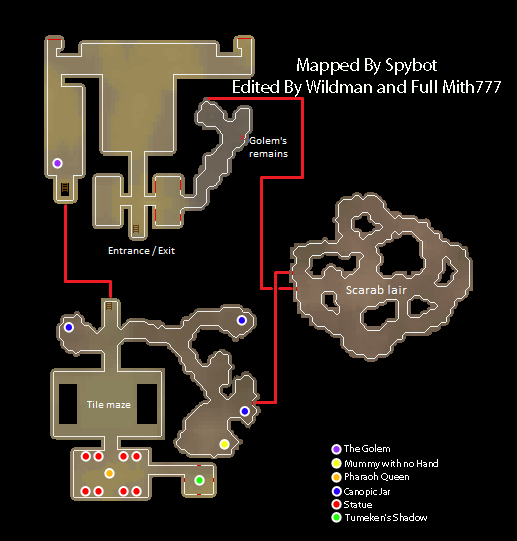 A map of the pyramid