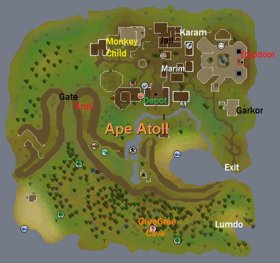 A map of ape atoll island