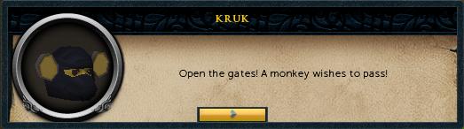 Kruk: Open the gates!