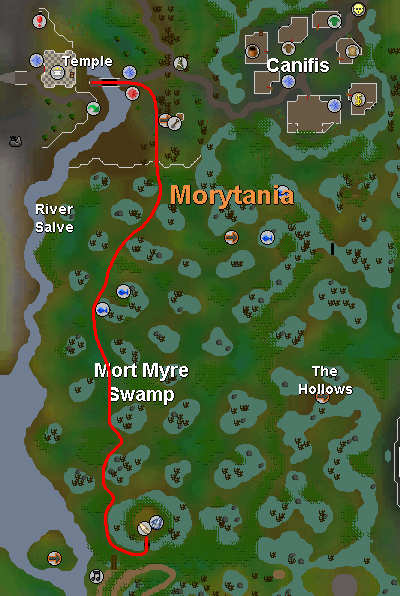 A map to Filliman's camp