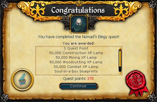 Quest Complete! WOOHOO!