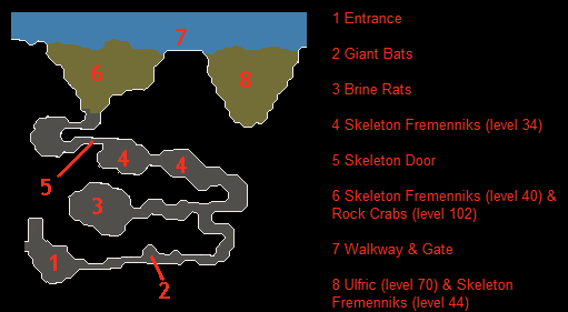 A map of the dungeon