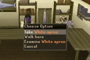 Take White Apron