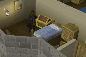 Search the Chest in the Blue Moon Inn
